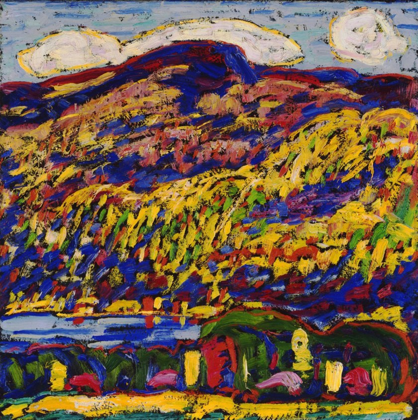 Marsden Hartley: Mountain Lake-Autumn, C. 1910, The Phillips Collection, Washington, D.C..