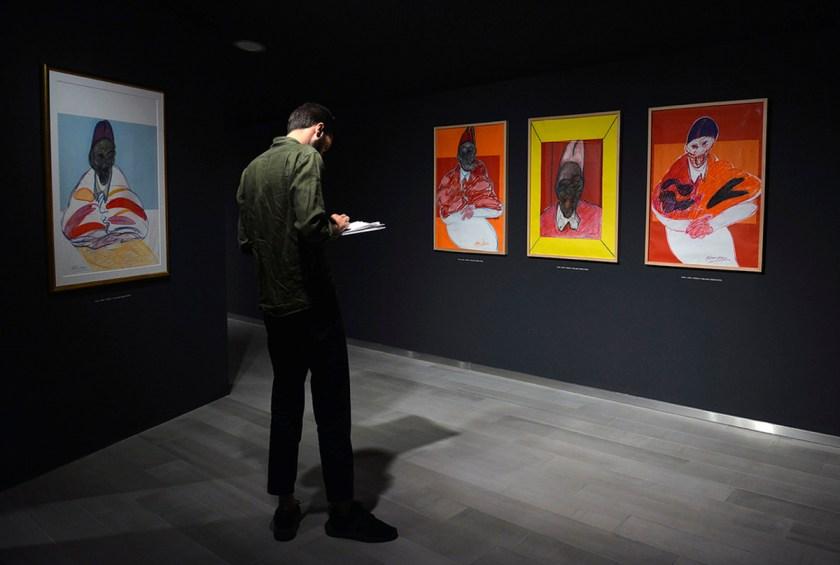 Vista general de la sala de exposiciones del Centro Cultural Bancaja con la obras de Francis Bacon. Fotos cortesia: ©Fundación Bancaja