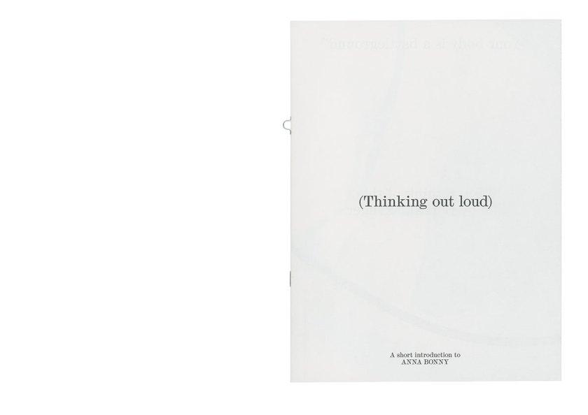 """""""Thinking out loud"""" de Bendita Gloria"""