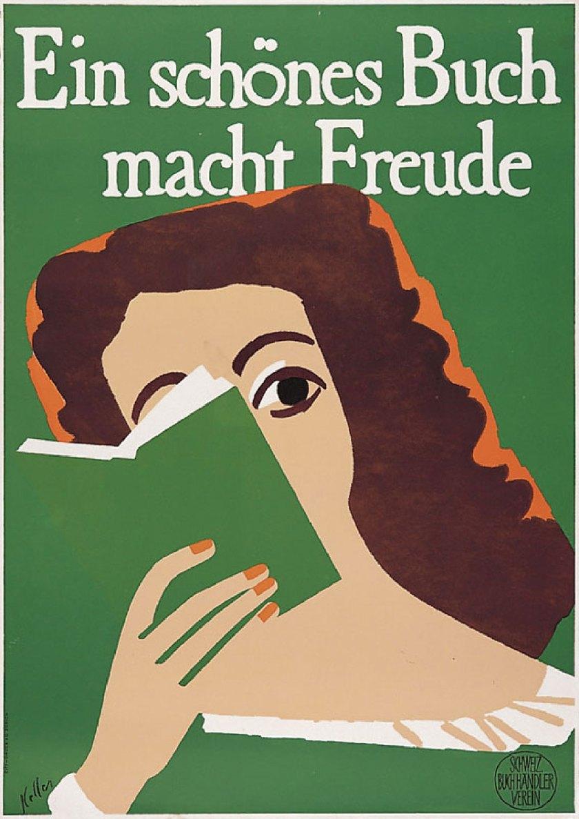 """© Ernst Keller """"Un buen libro es un placer"""" - 1948"""