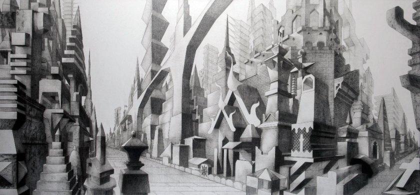 Glexis Novoa, Wat, 2013, graphite on canvas, Courtesy of the artist and David Castillo Gallery