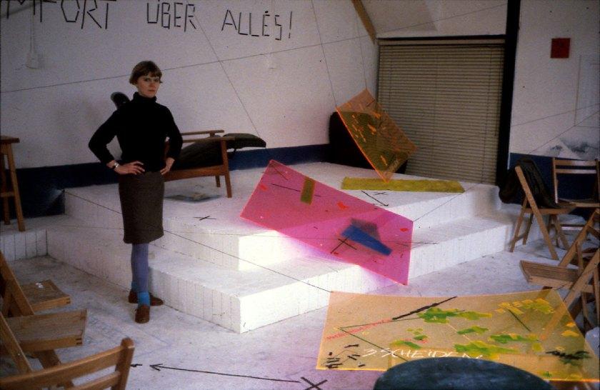 Komfort Über Alles!, 1981, Installation view in Salon O, Leiden (NL), Photo: Danny Devos