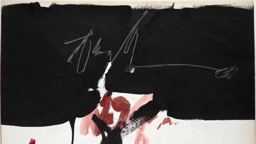 MANOLO MILLARES Sin título,1966. Pintura sobre papel. 70 x 95,5 cm. Colección particular. Foto: Joaquín Cortés