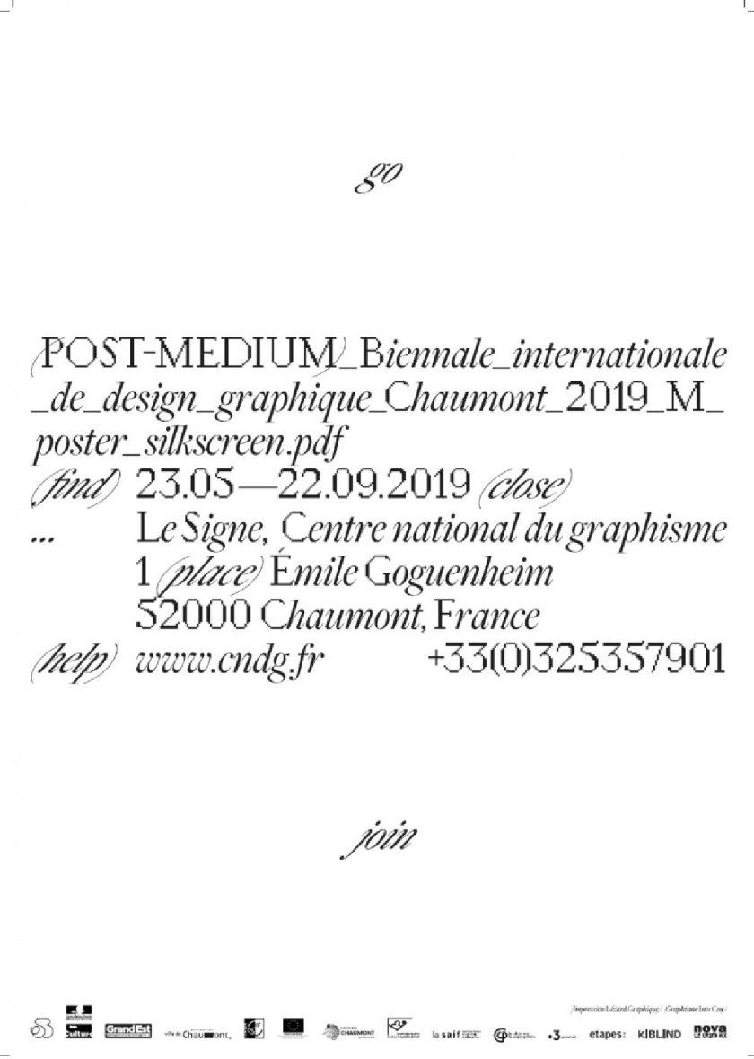 Biennale internationale de design graphique Chaumont 2019