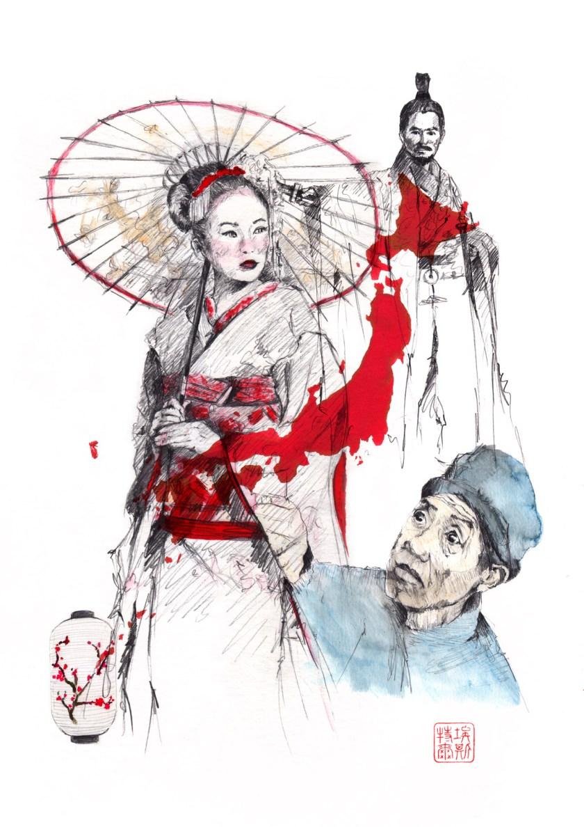 Fantasma Japonés. Ilustración: Esther De La Torre
