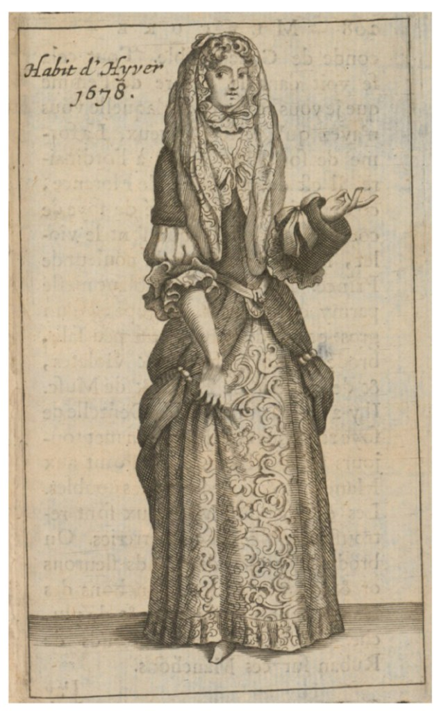 Habit d'hivern. Mercure Galant. 1678 Casaca masculina. 1680 Hemeroteca Municipal. Ayuntamiento de Madrid