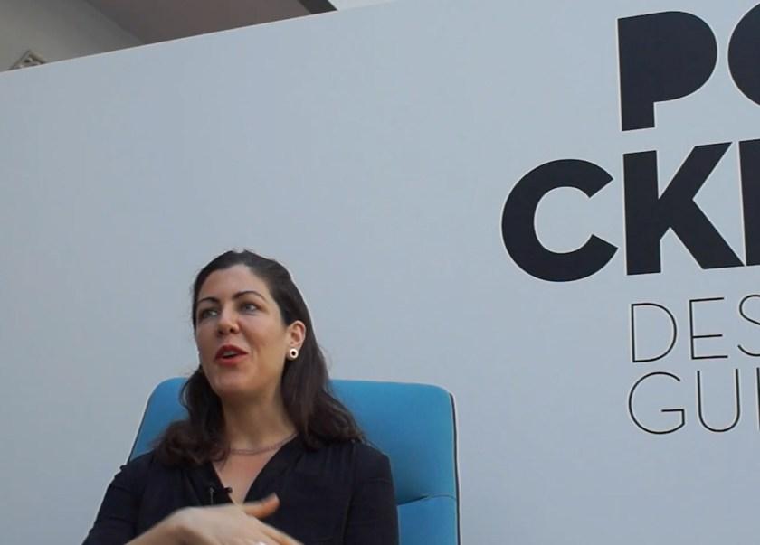 Alejandra Gandía-Blasco responde al cuestionario de POCKET DESIGN GUIDE durante la Feria Hábitat Valencia el pasado mes de septiembre.