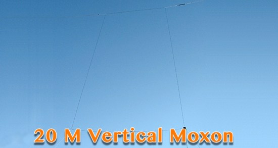 Vertical moxon for 14 Mhz