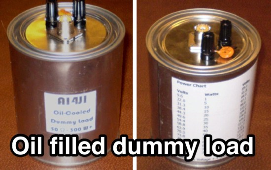Oil filled dummy load