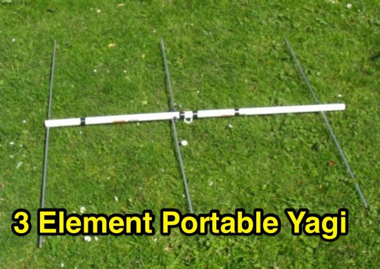 3 element portable Yagi for 2 meters