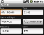 Amateur Radio Call Log