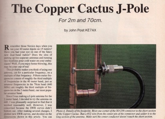 The Copper Cactus J-Pole