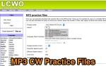 MP3 CW Practice files