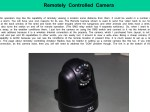 Remotely Controlled Camera by VK5SW