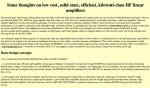 Высокая эффективность, законный предел, твердотельные линейные ВЧ усилители