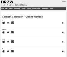 Contest Calendar – Offline Access   DR2W