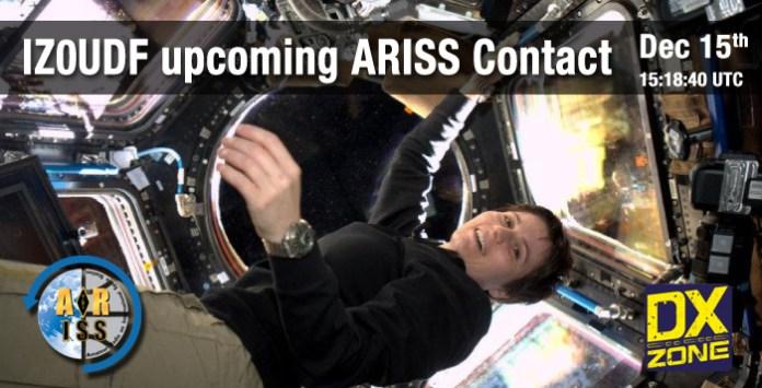 IZ0UDF upcoming ARISS contact