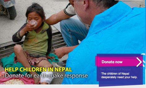 Help Children in Nepal_ Donate for earthquake response - Support UNICEF