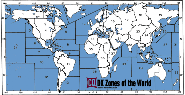 CQ Zone Map