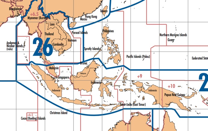 Cq dx zones world map asia and indonesia detail gumiabroncs Choice Image