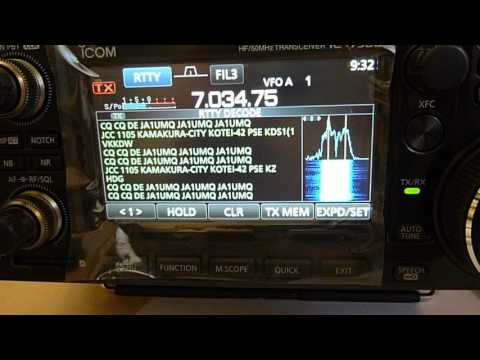 IC-7300 RTTY Video