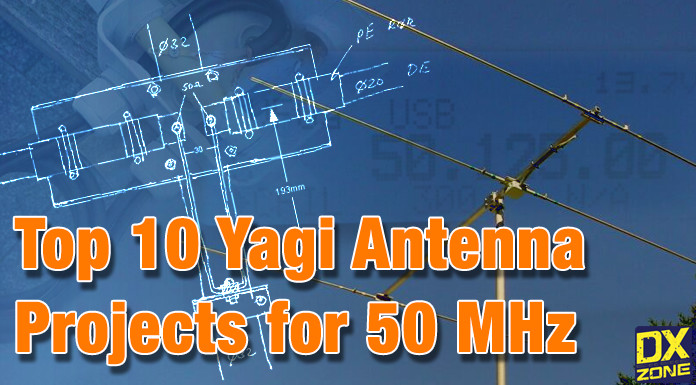 top 10 yagi antenna projects for 50 mhz band