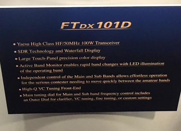 FTDX101D Features