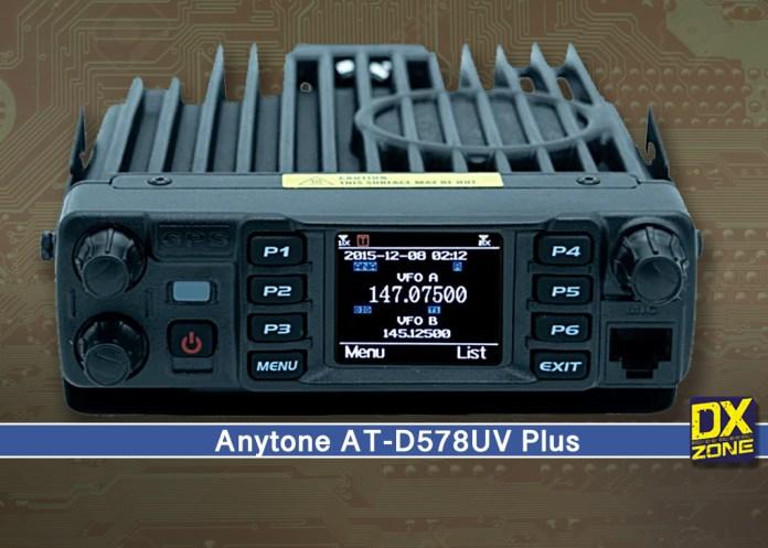 Anytone AT-D578UV Plus Dual Band DMR Mobile Transceiver
