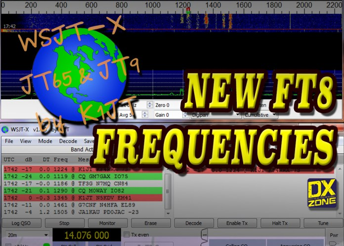 New FT8 Frequencies with WSJ-X 2.2.0-Rc2