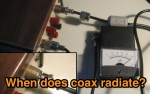 The myth of SWR causing coax radiation