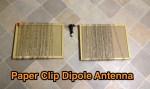 Paper Clip Dipole Antenna