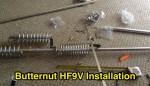 Butternut HF9V Installation
