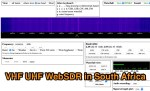 VHF UHF WebSdr in Johannesburg
