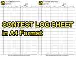 Contest Log Sheet in A4 Format