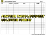 Amateur Radio Station Log Sheet in US Letter Format