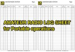 Log Sheet for Portable Operations