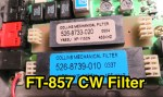 How to install FT-857 CW Filter