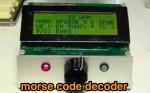 ARDUINO CW decoder