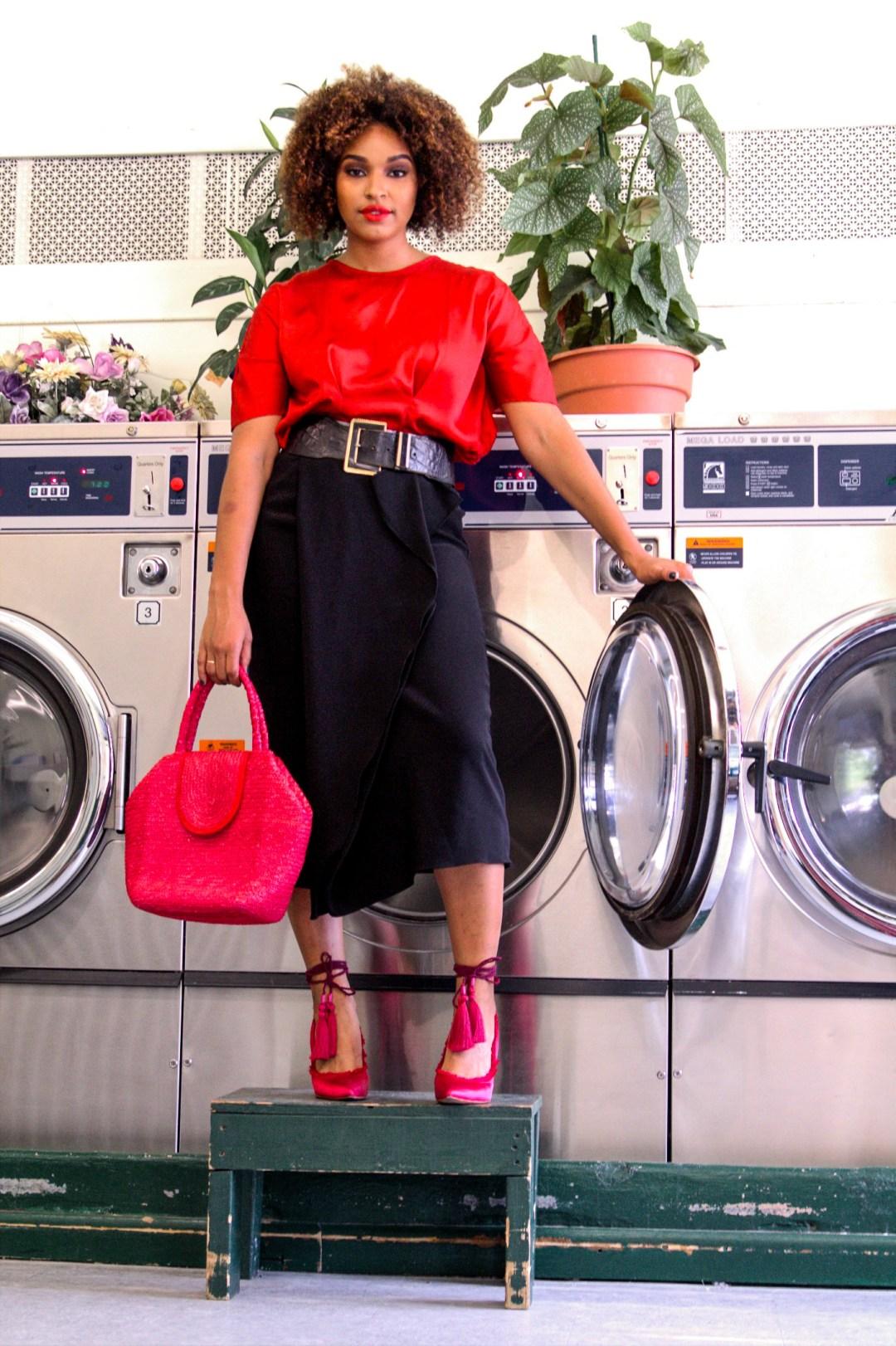 Laundromat Blogger Photoshoot