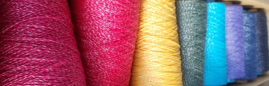 SAORI Rayon cones from Dyeing To Weave studio