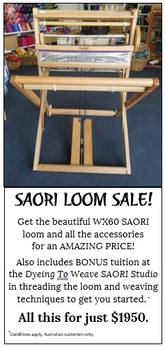 Buy SAORI loom - Dyeing To Weave Studio is an authorised SAORI dealer