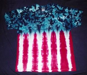 tie dye, tie-dye, tie-dyed, tie dyed, shirt, american, flag, patriotic