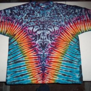 tie dye, tie-die, tie-dyed, tie dyed, shirt. blue, rainbow