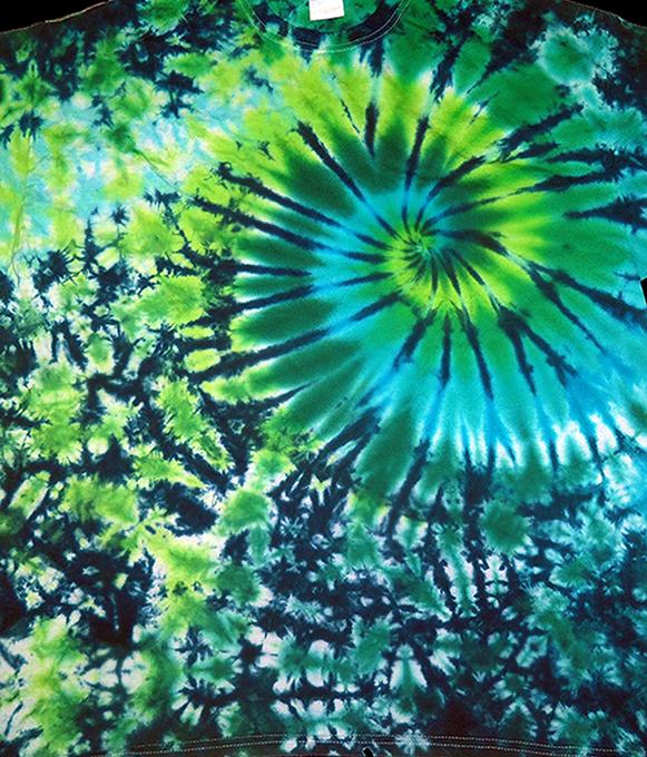 Green Blue Marble Swirl Ladies Dyemasters