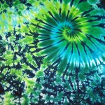 Green blue marble swirl -ladies tie dye