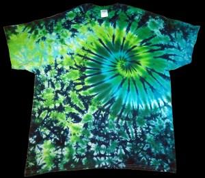 tie dye, tie-dye, tie dyed, tie-dyed, shirt, green, swirl
