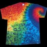 Rainbow shoulder swirl