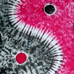 Red Black Yin Yang -ladies tie dye