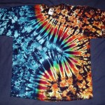 tie dye, tie-dye, tie dyed, tie-dyed, shirt, zigzag, marble