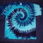 tie dye, tie-die, tie-dyed, tie dyed, shirt , swirl, blue